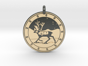 Caribou Animal Totem Pendant in Glossy Full Color Sandstone
