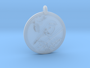 Chickadee Animal Totem Pendant in Smooth Fine Detail Plastic