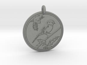 Chickadee Animal Totem Pendant in Gray PA12