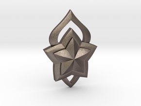 Lux Star Guardian Pin in Polished Bronzed-Silver Steel