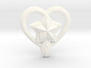Lulu Star Guardian Pin in White Processed Versatile Plastic