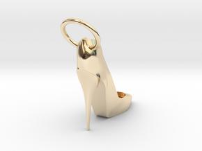 Left Foot Heel Earring in 14K Yellow Gold