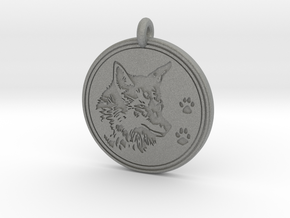 Coyote Animal Totem Pendant  in Gray PA12