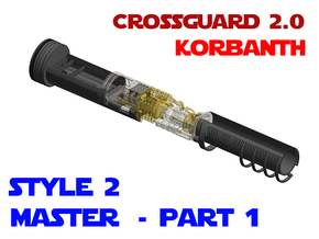 Korbanth Crossguard 2.0 - Master Part1 Style2 in White Natural Versatile Plastic