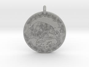 Desert Tortoise Animal Totem Pendant in Aluminum