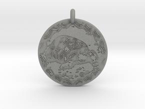 Desert Tortoise Animal Totem Pendant in Gray PA12