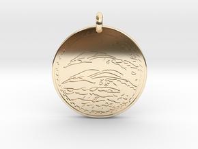 Dolphin Animal Totem Pendant in 14K Yellow Gold