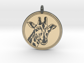 Giraffe Animal Totem Pendant 2 in Glossy Full Color Sandstone