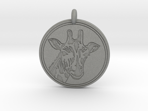 Giraffe Animal Totem Pendant 2 in Gray PA12