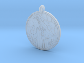 Giraffe Animal Totem Pendant in Smooth Fine Detail Plastic