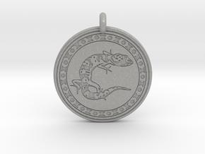 Gecko Animal Totem Pendant in Aluminum