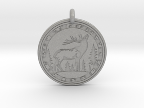 Elk Animal Totem Pendant in Aluminum