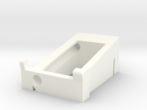 Preston Single Channel Cradle in White Processed Versatile Plastic