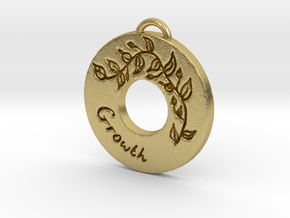 Just Grow Pendant in Natural Brass
