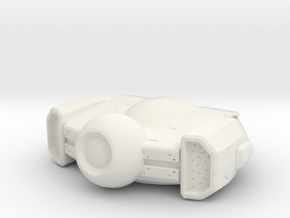 A6_DRONE |  Dog Head in White Natural Versatile Plastic