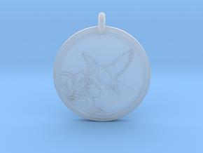 Humming bird Animal Totem Pendant in Smooth Fine Detail Plastic