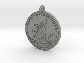 Humpback Whale Animal Totem Pendant in Gray PA12