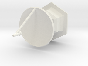 1/285th scale Radar set I (2 pieces) in White Natural Versatile Plastic
