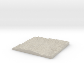 Model of Deep Creek in Natural Sandstone