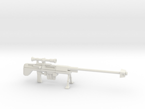 Miniature Sniper Rifle  in White Natural Versatile Plastic