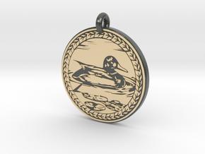 Mallard Duck Animal Totem Pendant in Glossy Full Color Sandstone