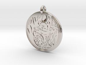 Koala Animal Totem Pendant in Rhodium Plated Brass