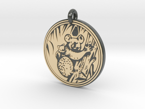 Koala Animal Totem Pendant in Glossy Full Color Sandstone
