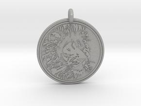 Lion Animal Totem Pendant in Aluminum