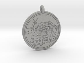 Llama Animal Totem Pendant in Aluminum