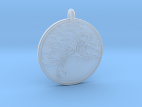 Manatee Animal Totem Pendant in Smooth Fine Detail Plastic