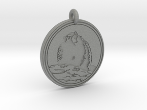 Marmot Animal Totem Pendant in Gray PA12