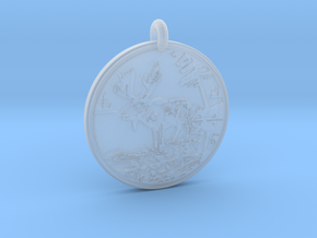 Moose Animal Totem Pendant in Smooth Fine Detail Plastic