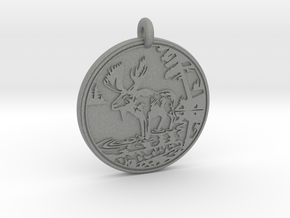 Moose Animal Totem Pendant in Gray PA12