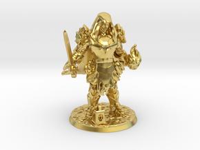 Cocky Sorcadin in Polished Brass