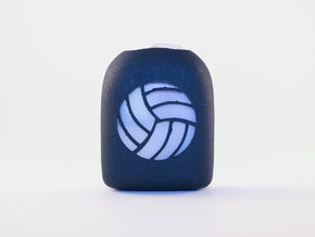 Volleyball - Omnipod Pod Cover in Black Natural Versatile Plastic
