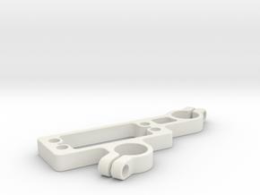 Zocus - 4x Servo Mount in White Natural Versatile Plastic