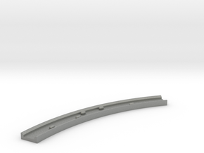 Motorway 4 Curve (A) with cars 1:1000 scale in Gray Professional Plastic