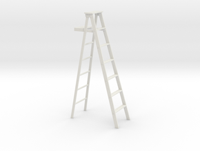 1 to 24 scale bulked up step ladder in White Natural Versatile Plastic