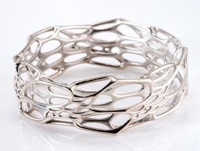 Morph Bangle in Polished Silver: Medium