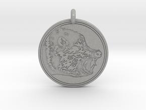 Javelina Animal Totem Pendant in Aluminum