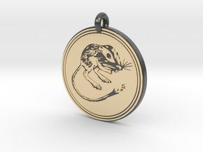 Kangaroo Rat Animal Totem Pendant in Glossy Full Color Sandstone