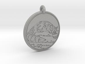 Ring tail Animal Totem Pendant in Aluminum