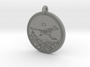 Road Runner Animal Totem Pendant in Gray PA12