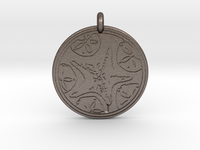 Sea Star ( Star Fish) Animal Totem Pendant in Polished Bronzed-Silver Steel