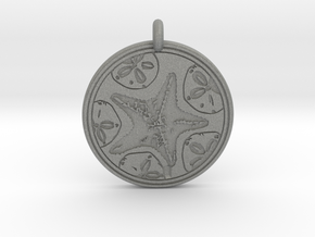 Sea Star ( Star Fish) Animal Totem Pendant in Gray PA12