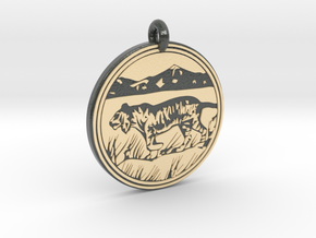 Tiger Animal Totem Pendant  in Glossy Full Color Sandstone