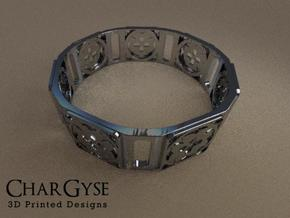 Bangle - Eight Petals Crossed in Frosted Ultra Detail