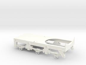 Chassis for Retro Euro Bulk Tanker in White Processed Versatile Plastic