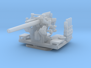 "1/144 5""/25 (12.7 cm) Deck AA Gun in Smooth Fine Detail Plastic"
