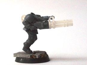 Minigun conversion (x5) in Smooth Fine Detail Plastic